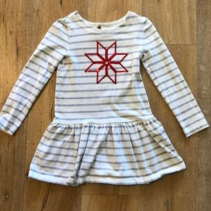 Gymboree Striped Pointsetta Drop Waist dress